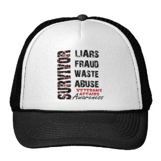 VA LIES, FRAUD, WASTE & ABUSE SURVIVOR AWARENESS CAP