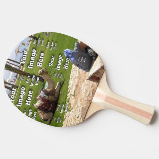 Vacation Image Template Ping Pong Paddle