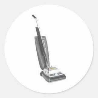 vacuum classic round sticker