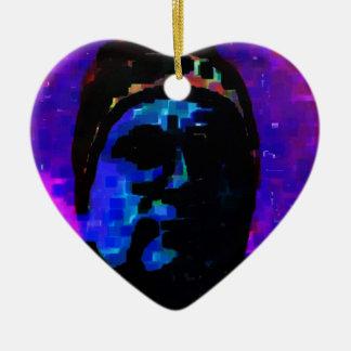Vague Recollection. Ceramic Heart Decoration