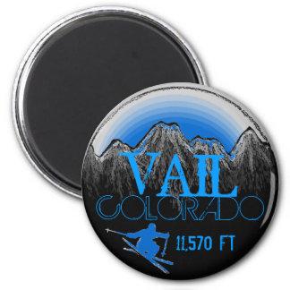 Vail Colorado blue ski mountain magnet
