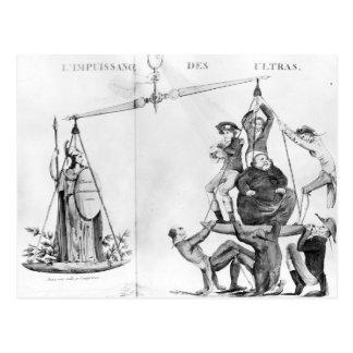 Vain efforts of the Ultras, 1819 Postcard