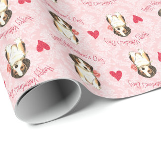 Valentine Beagle Wrapping Paper