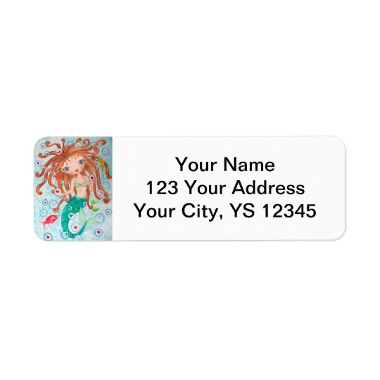 """Valentine Bubbles"" Return Address Label"