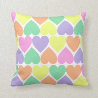 Valentine Candy Hearts Home Decor Throw Pillow Cushions