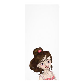 Valentine Girl Custom Rack Cards