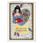 """""""Valentine Greetings"""" Vintage Greeting Card"""