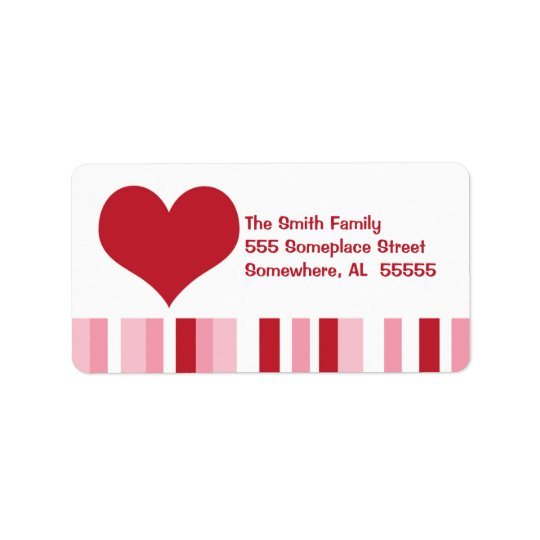 Valentine Heart Address Label
