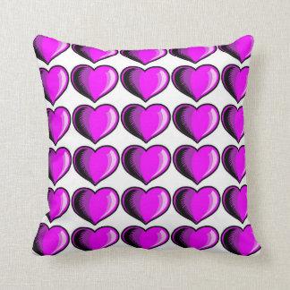 Valentine Heart Pattern 3 Throw Pillow