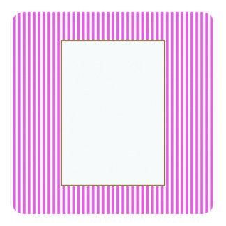 Valentine Lilac and White Stripes Invite