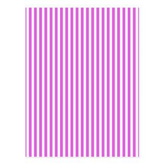 Valentine Lilac and White Stripes Postcard