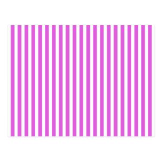 Valentine Lilac and White Stripes Postcards