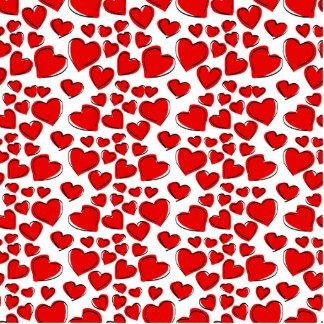 Valentine Love Hearts Photo Sculpture Magnet