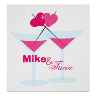 Valentine Martinis Poster