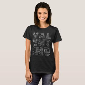Valentine one-of-a-kind elegant decorative black T-Shirt
