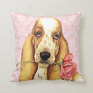Valentine Rose Basset Cushion