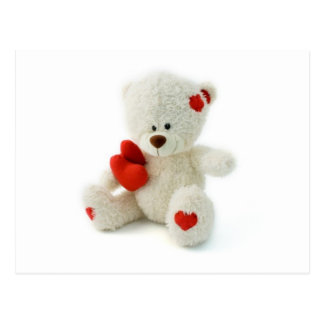Valentine's Day Teddy Bear Postcard