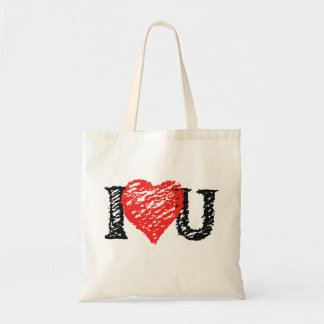 Valentine Scribble Canvas Bag