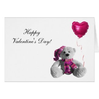 Valentine's Day Bear Heart Greeting Card