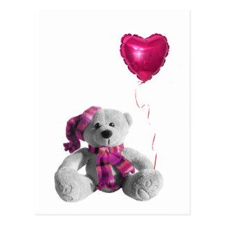Valentine's Day Bear Heart Postcard