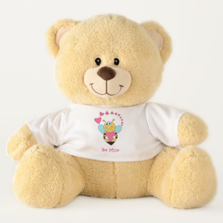 Valentine's Day Bee and Hearts Teddy Bear