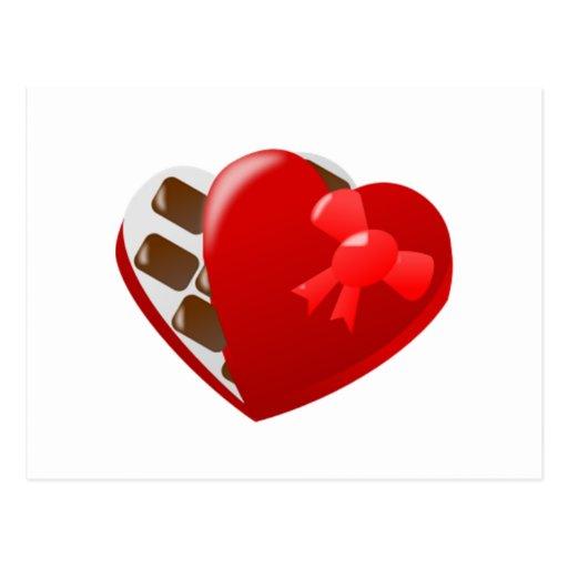 Valentine's Day Box of Chocolates Postcards