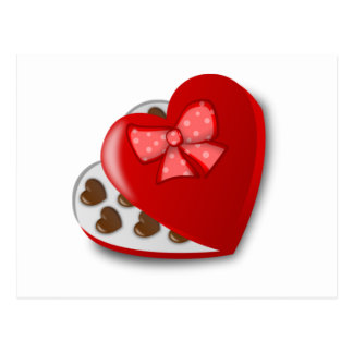 Valentine's Day Box of Chocolates Postcard