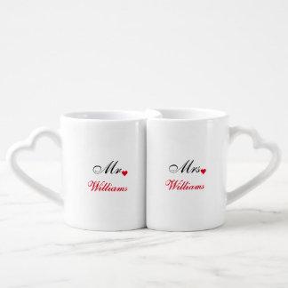 Valentines Day Bride Groom Wedding Date Love Mugs
