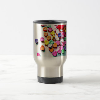 Valentine's Day Candy Hearts Stainless Steel Travel Mug