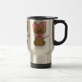 Valentines Day Cat Be Mine Stainless Steel Travel Mug