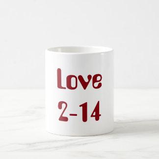 Valentine's Day Classic Love Mug 2-14 Claret