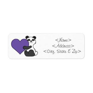 Valentine's Day Cute Panda Bear with Purple Heart