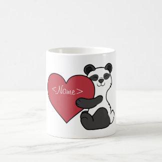 Valentine's Day Cute Panda Bear with Red Heart Coffee Mug