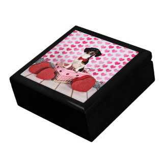 Valentine's Day - Ducky - Dachshund Large Square Gift Box
