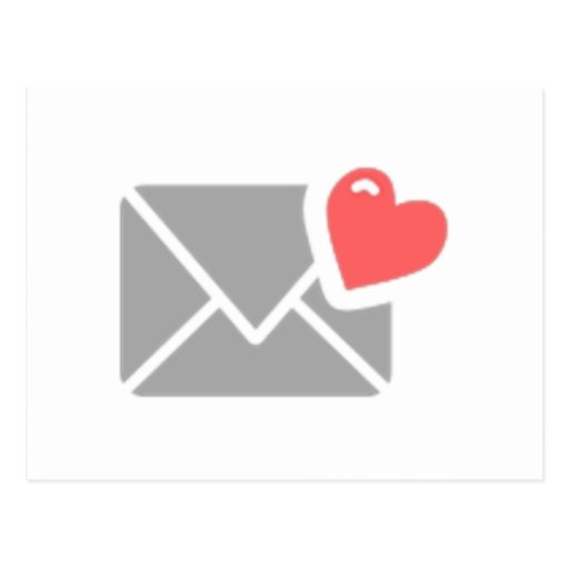 Valentine's Day Heart and Envelope Post Cards
