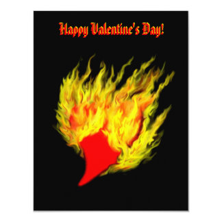 Valentine's Day -  heart in flame Invite
