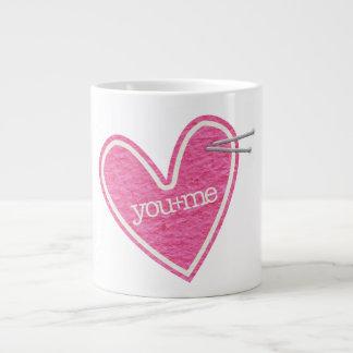 Valentine's Day Heart Jumbo Mug