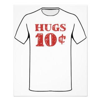Valentine's Day Hugs 10 Cents Flyers