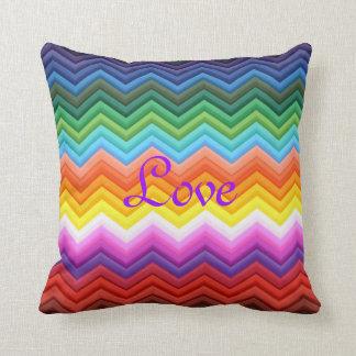Valentine's Day Love Romance Chevron Newlyweds Cushion