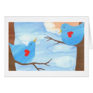 Valentine's Day Lovebirds by Liz Wang Card