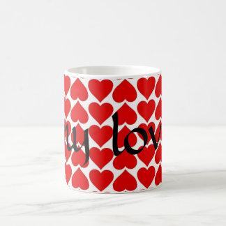Valentines Day My Love coffee mug white red black