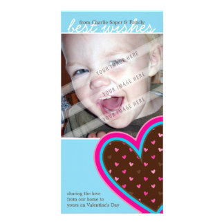 VALENTINE'S DAY PHOTOCARD :: funky hearts 10P Card