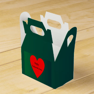 Valentines Day Red/Green >favor Box Favour Box