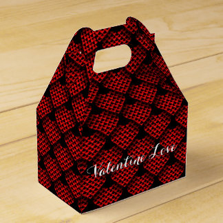 Valentine's day Red Hearts Party Favour Boxes