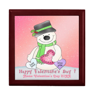Valentine's Day Snowman Gift Box/Trinket Box