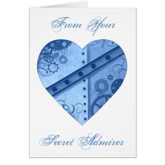 Valentine's Day steampunk heart secret admirer Greeting Card