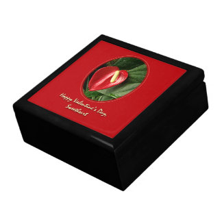 Valentine's Day Sweetheart - Anthurium Large Square Gift Box
