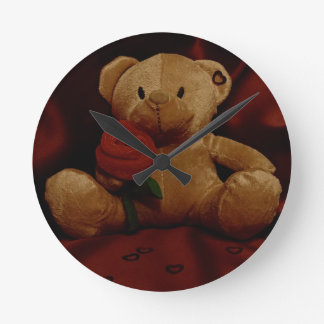 Valentine's Day Teddy Bear Wallclocks