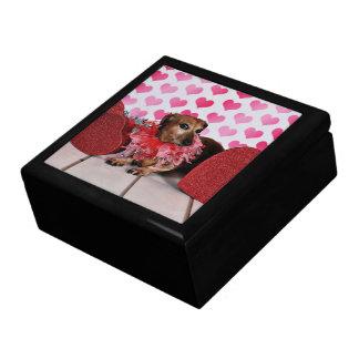 Valentine's Day - Trudy - Dachshund Large Square Gift Box