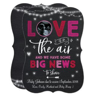 Valentine's Pregnancy Announcement Ultrasound Card